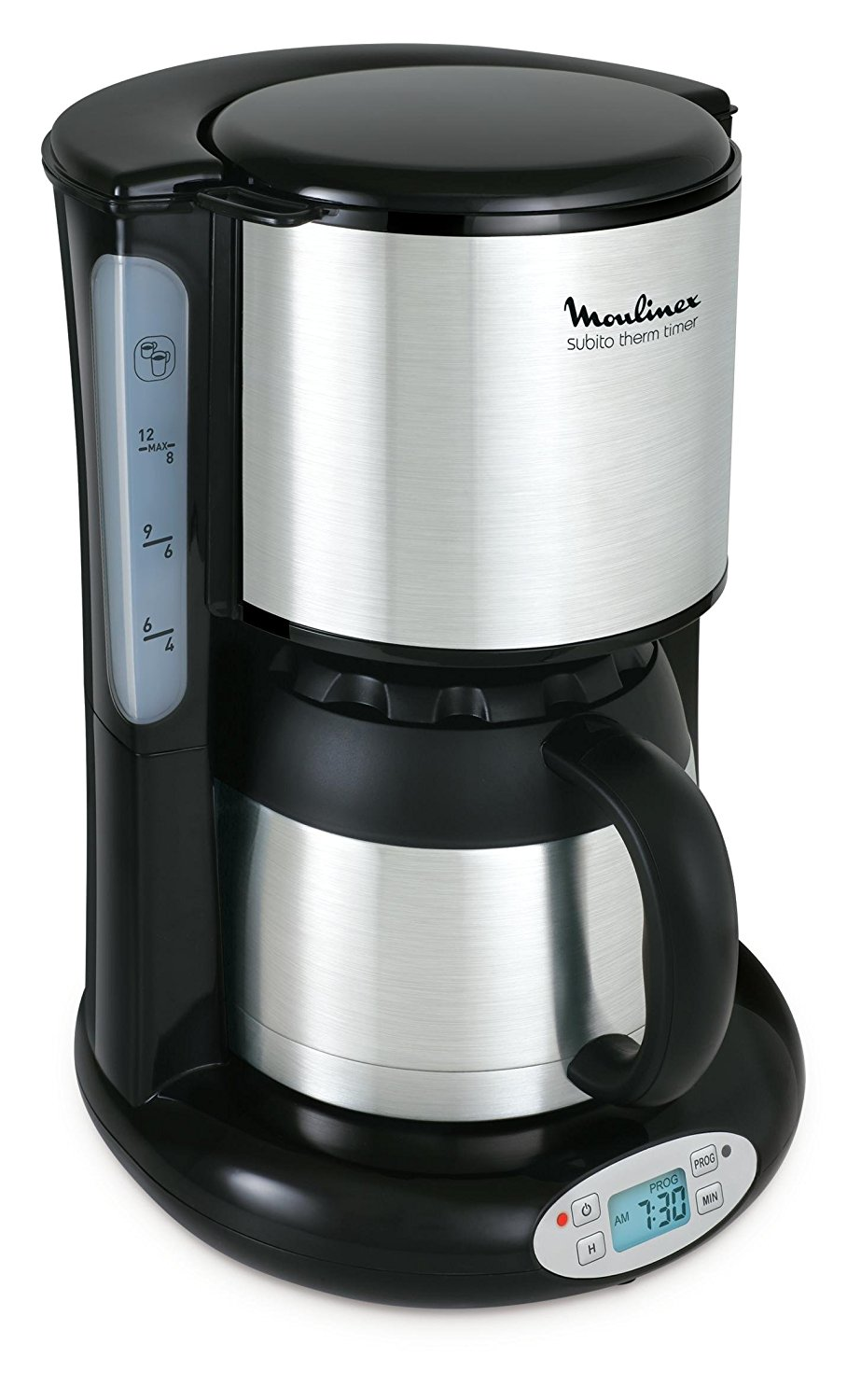 Moulinex FT3628 Thermo Digitaler Timer Kaffeemaschine Subito, 4 Programme,  Isolierkanne
