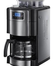 Russell Hobbs Buckingham Grind & Brew 20060-56 Digitale Glas-Kaffeemaschine mit integriertem Mahlwerk