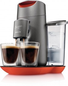 Philips Senseo HD7873/50 Twist Kaffeepadmaschine mit Touchdisplay, Chinese Fire