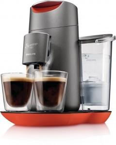 Philips Senseo HD7873/50 Twist Kaffeepadmaschine mit Touchdisplay, Chinese Fire