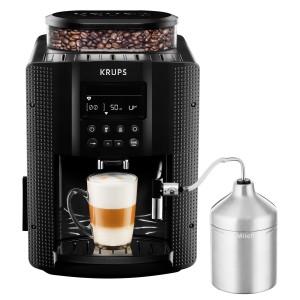 Krups EA8160 Kaffeevollautomat (1450 Watt, 1,8 Liter, 15 bar, LC Display, Cappuccinatore) schwarz