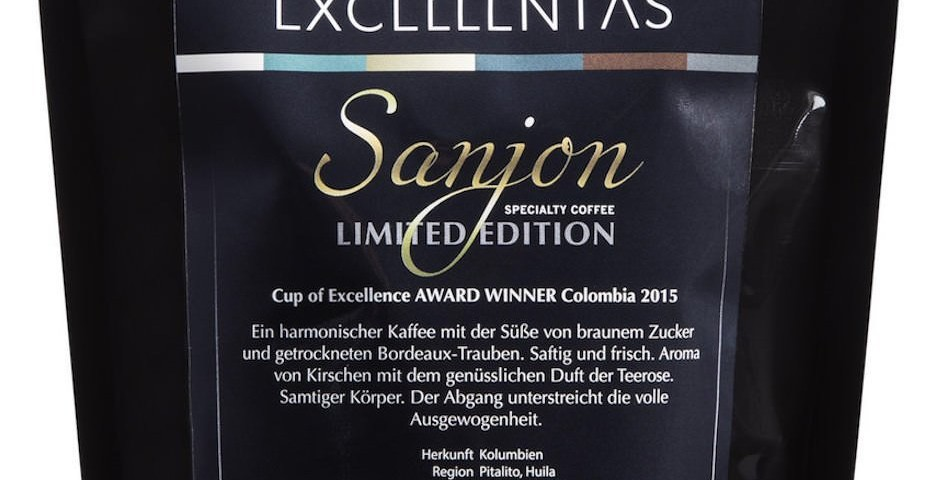 Exzellenter Kaffee SANJON limited edition Cup of Excellence Gewinner